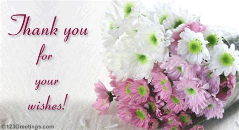 Thanks For Your Wishes  Free Thank You eCards, Greeting