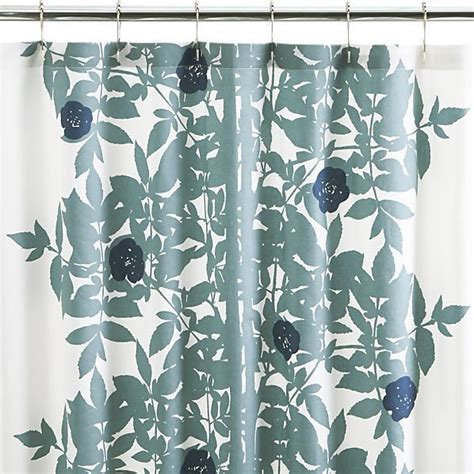 crate barrel shower curtain marimekko ruusupuu shower curtain