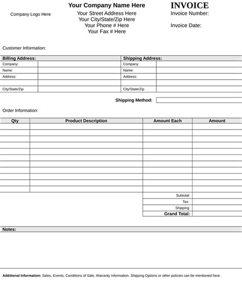 itemized bill template ricdesign