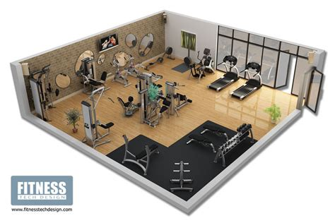 Home Gym Layout Design Photos | 3d gym design 3d fitness layout portfolio fitness tech