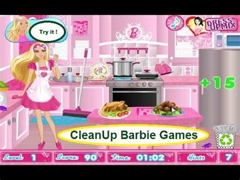 free online games for girls at 123mommycom play free online barbie games for girls party cleanup