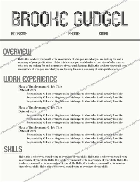 retro resume contact brookegudgel gmail com rush