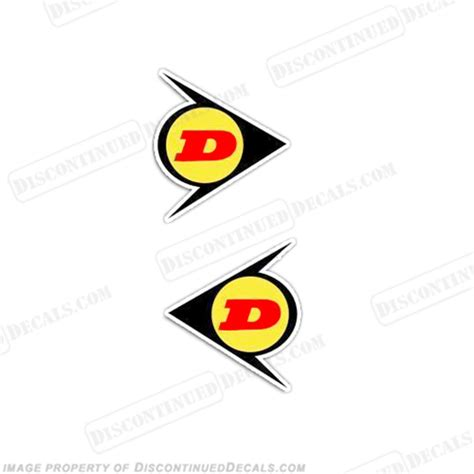 Decal Sticker Dtracker 150 Yellow Racing dunlop decals yellow set of 2 rb dun y