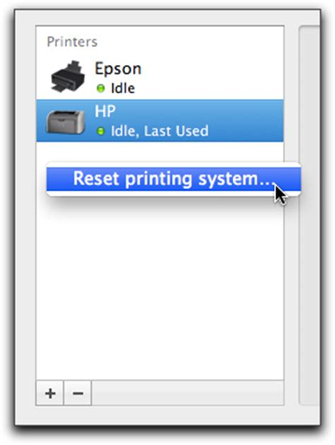 reset all printers on mac os x resetting the printing system the mac observer