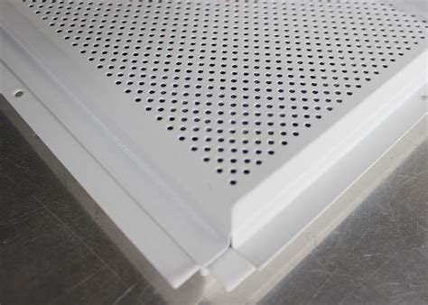 Perforated Metal Ceiling Panels by Metal Beveled Edge Perforated Ceiling Tiles Suspended
