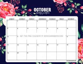 Calendar Of October Free Printable October 2017 Calendar 12 Awesome Designs