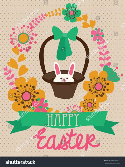 happy easter cards illustration easter eggs stock vector