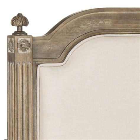 Wood And Linen Headboard by Rustic Wood Beige Linen Headboard Headboards Furniture