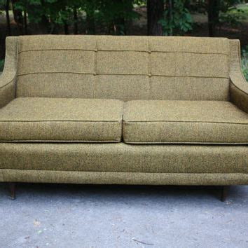 brown tweed couch mid century brown tweed sofa love seat from gremlina on etsy