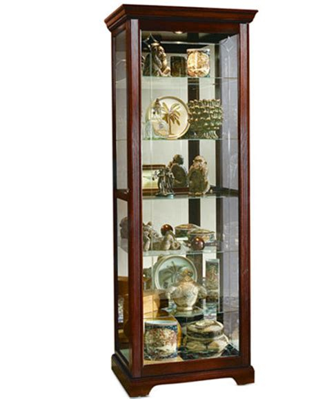 Curios Cabinets Logan Sliding Door Curio Cabinet Furniture Macy S