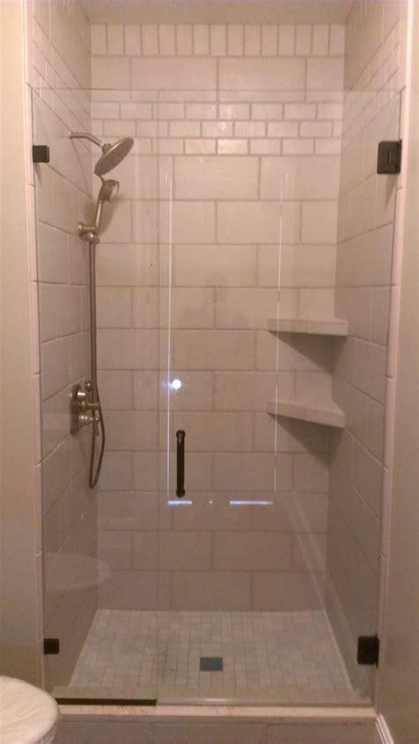 Bathroom Two Tier Beige Marble Shower Corner Shelf Tile Shower Shelves