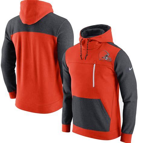 nike cleveland browns orange av fleece pullover hoodie