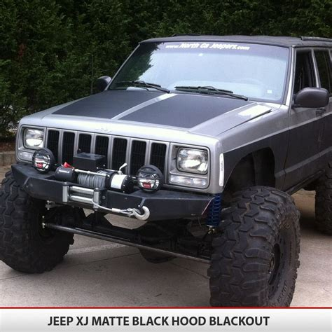 jeep grand cherokee blackout jeep cherokee xj blackout hood i jeep pinterest