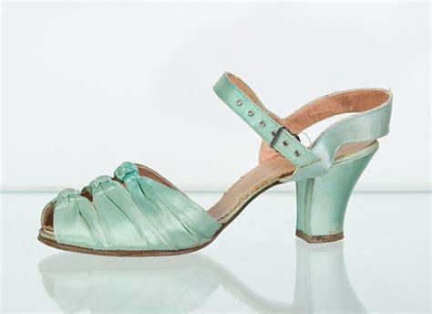 seafoam green sandals 30 s deco seafoam green satin silk evening sandals