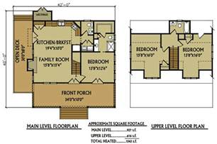 Lake Cabin Floor Plans Small 3 Bedroom Lake Cabin With Open And Screened Porch
