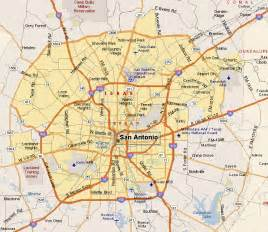 map of san antonio and surrounding area map of us state map