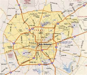 san antonio map by area