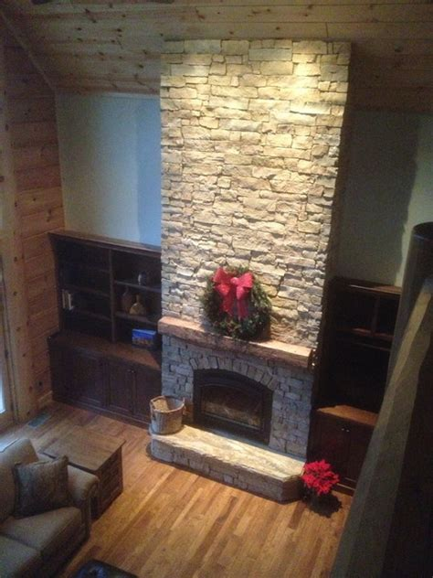vaulted ceiling fireplace cathedral ceiling fireplace custom barn beam mantel traditional family room other