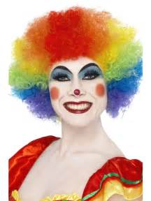 Crazy clown rainbow wig 42088 fancy dress ball