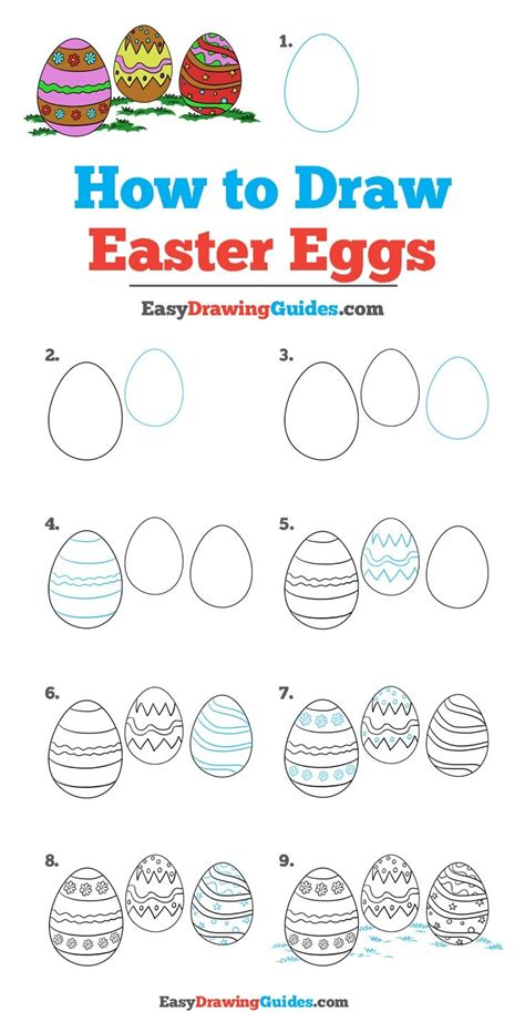 doodle draw easter how to draw easter eggs really easy drawing tutorial