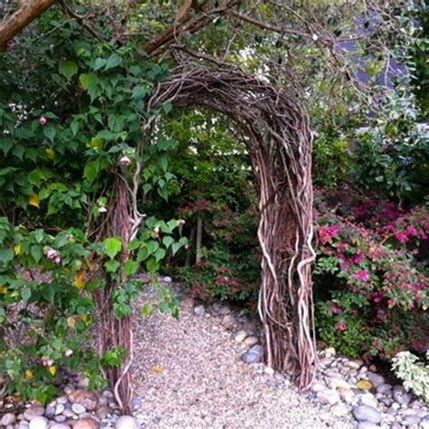 Garden Arbor Made From Branches Nell Wooden More Twig Arbor Plans