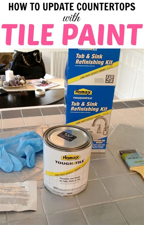 how to paint tile in bathroom livelovediy how to paint tile countertops