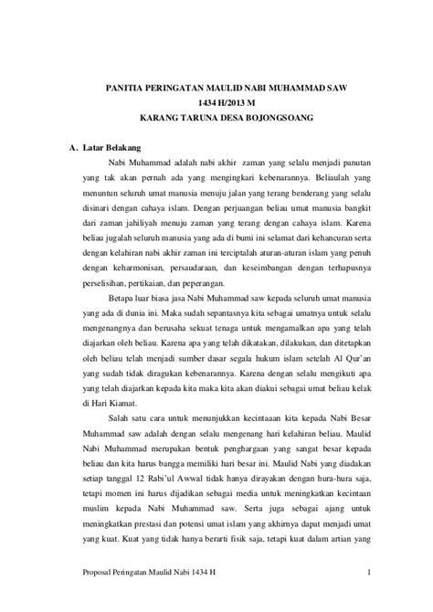 proposal maulid nabi isi proposal peringatan maulid nabi muhammad saw