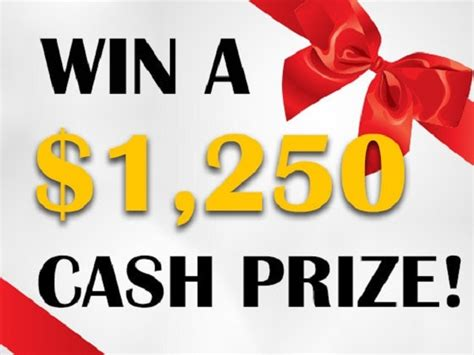 Free Cash Sweepstakes - 1 250 cash sweepstakes