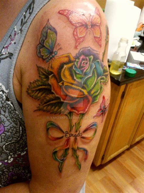 half butterfly tattoo designs rainbow butterfly
