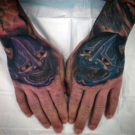 tattoo hand mask 100 hannya mask tattoo designs for men japanese ink ideas