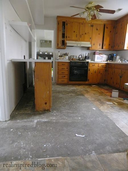 Kitchen Floor Band Real Inspired Another Kitchen Leak Another Design Dilemma