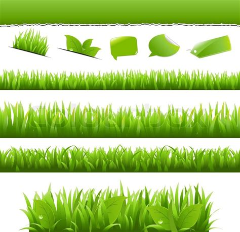 eco design elements vector collection eco design elements isolated on white
