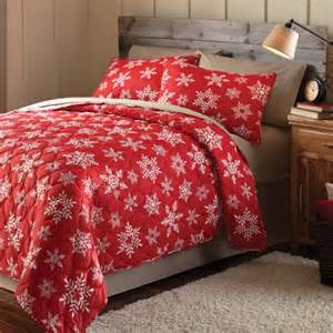 Cotton Baby Comforter Mainstays Holiday Snowflake Printed Bedding Quilt Set Red