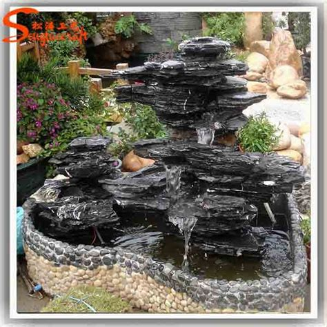 home waterfall fountains decorative glass indoor
