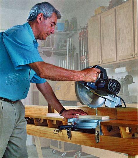 folding saw bench folding miter saw table plans woodarchivist