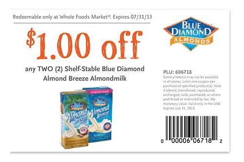 almond breeze coupon $1