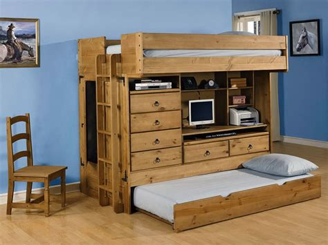 bunk beds with desk bunk bed with desk and dresser wood bunk beds with desk