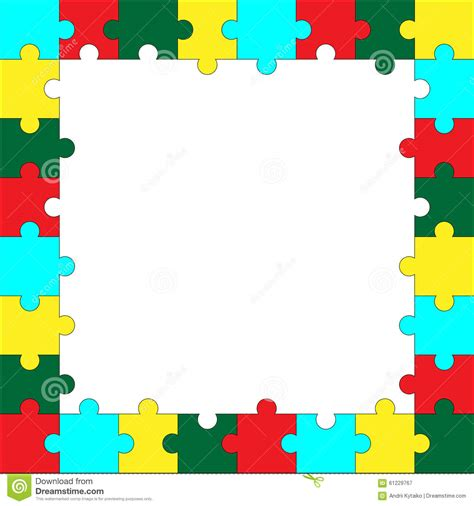 layout puzzle vector frame puzzle template stock vector image 61229767