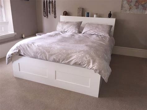 ikea brimnes bed frame 160 x 200 cm with storage and