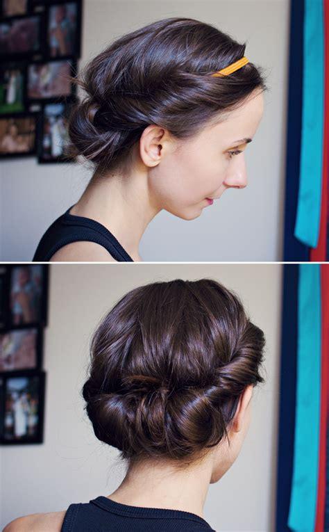 updo hairstyles headband modamama hair tutorial easy headband updo