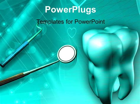 dental powerpoint themes powerpoint template a big 3d tooth with some dental