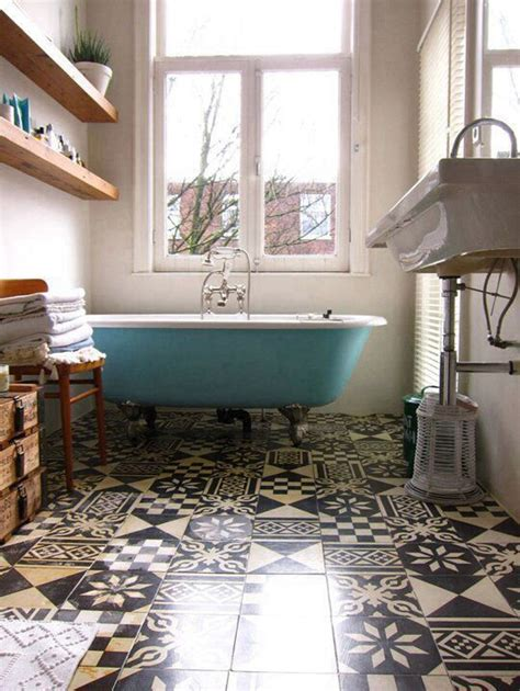 bathtub in floor 20 great pictures and ideas of vintage bathroom floor tile