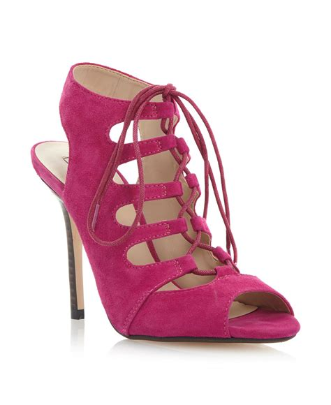 pink lace up sandals dune lace up gladiator sandals in pink lyst