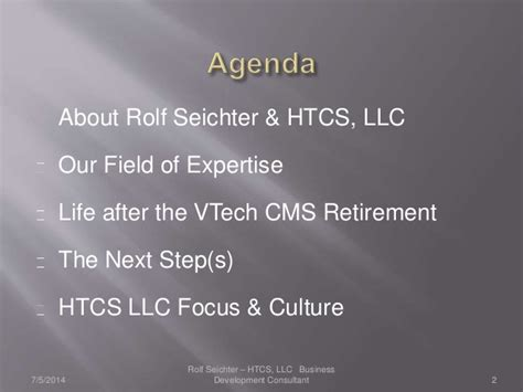 Mba Focus Llc by Htcs Llc High Tech Consulting Services