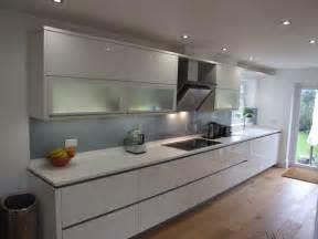 white kitchens with glass splashbacks a grey glass splashback is a great addition to an