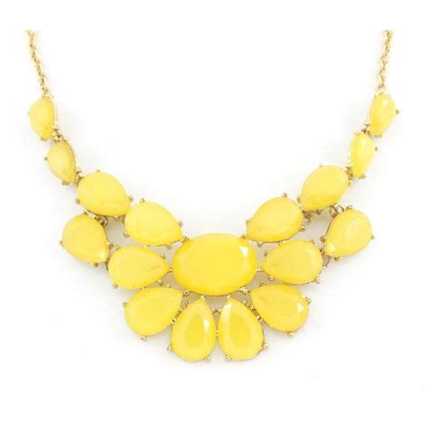 25 best ideas about yellow statement necklaces on