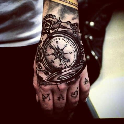 tattoo hand compass 손등타투 리얼타투 mogly 강지민 tattoos handtattoo 나침반타투