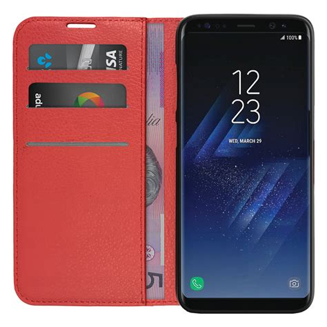 Samsung S8 Gift Card - leather wallet case card holder samsung galaxy s8 red