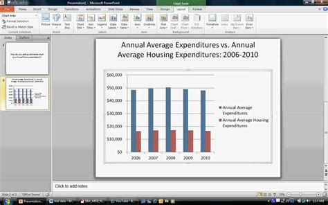 powerpoint tutorial charts how to create an animated chart in powerpoint 2010 youtube