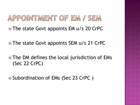 section 39 crpc executive magistrates in election process